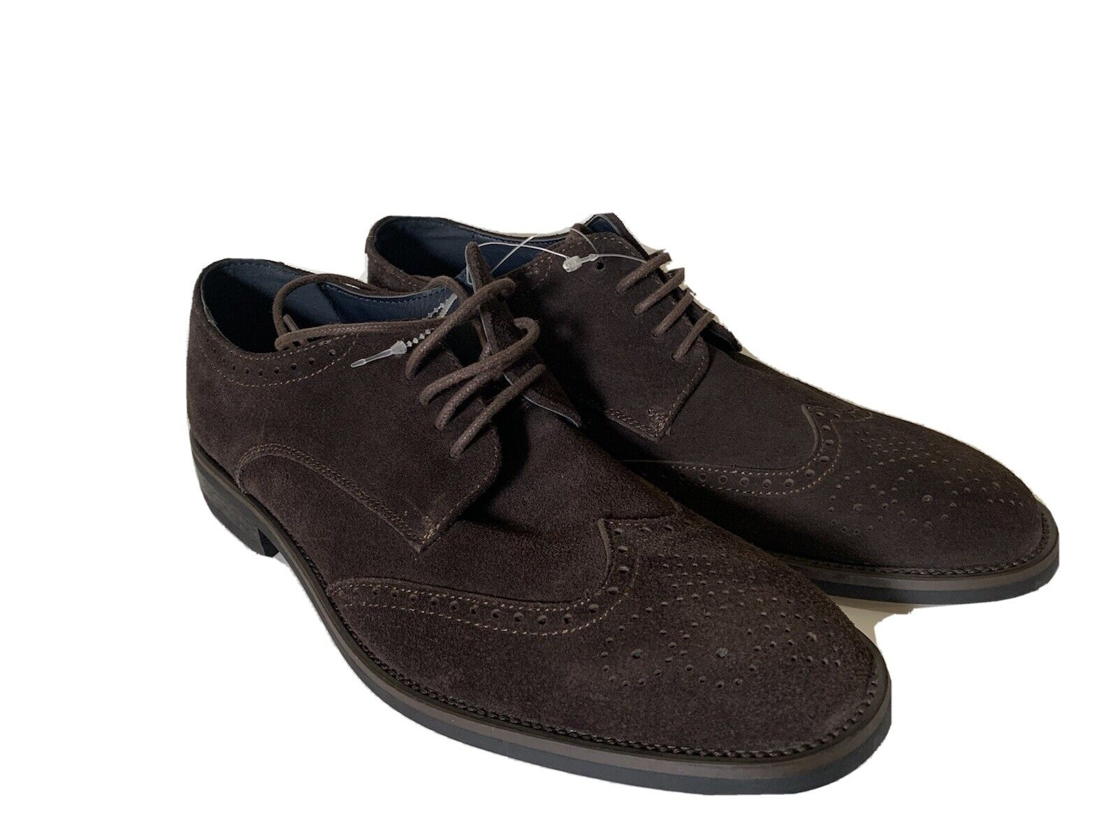 New Joseph Abboud Leather Oxford Brown Shoes Sz 8