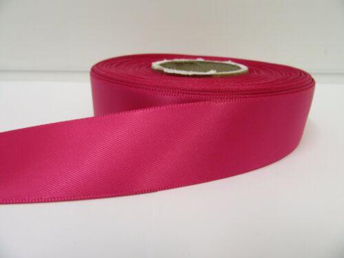 3mm 7mm 10mm 15mm 25mm 38mm 50mm Fuchsia Bright Pink Satin Ribbon double sided