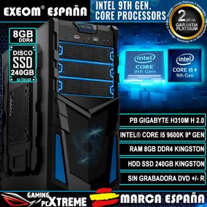 Ordenador-Pc-Gaming-Intel-Core-i5-9600K-6xCORES-8GB-DDR4-SSD-240GB-de-Sobremesa