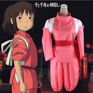 Anime Spirited Away Chihiro Cosplay Costume Cute Pink Costumes For Girls Gift Ebay