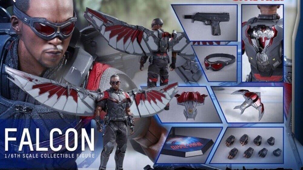 Caliente giocattoli MMS361 The Falcon Captain America Civil War  Movie 1 6 Scale SEALED scatola  grandi prezzi scontati