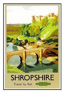 Edinburgh 9 Railway Vintage Retro Oldschool Old Good Price Poster