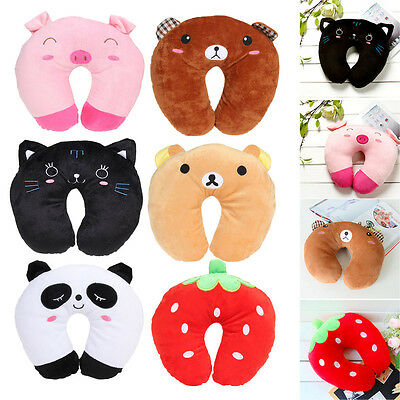 Cartoon U Shaped Travel Pillow Neck Support Head Rest Soft Cushion Pillow Gift