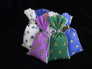 French Sachets-Fleurs de Lavandin Mini Sachets-Lavender Flower Provence Fabric