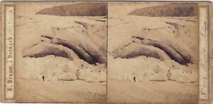 Sources Del Rodano Suisse A. Braun Stereo Vintage Albumina Ca 1860