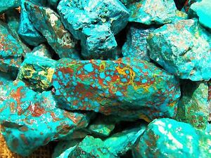 2000-Carat-Lots-of-Chrysocolla-amp-Turquoise-Rough-Plus-a-FREE-Faceted-Gemstone