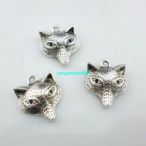 16//48pcs DIY Jewelry Making Tibetan Silver fox Charms Pendants Beads 15*18mm