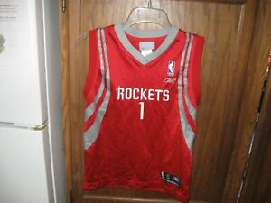 new concept 15842 9fe67 Details about TRACY McGRADY HOUSTON ROCKETS NBA REEBOK THROWBACK JERSEY VTG  YOUTH BOYS SZ SM 8