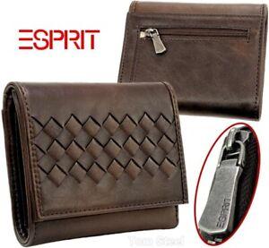 ESPRIT-Damen-Geldboerse-Synthetic-wasserabweisend-Portemonnaie-Geldbeutel-braun