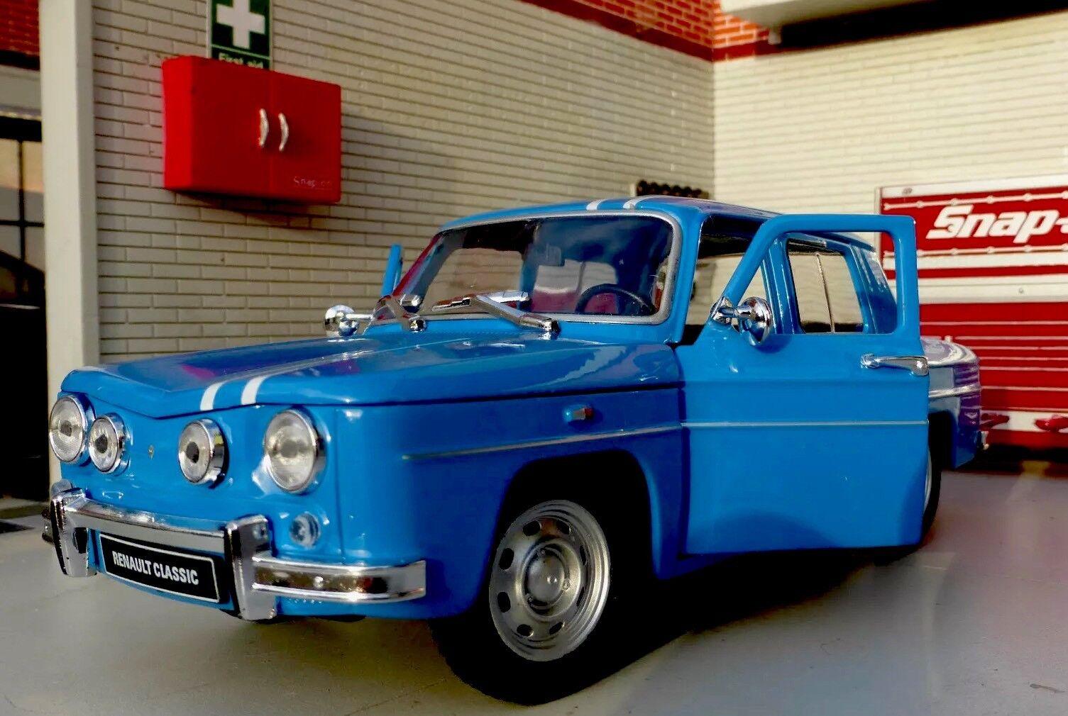G LGB 1 24 Escala 1964 Renault R8 Gordini Desizedo Welly Coche de Modelo blue