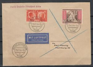 G3378-GERMANY-REICH-ITALY-MIXED-FRANKING-COVER-FIUME-CANCELS