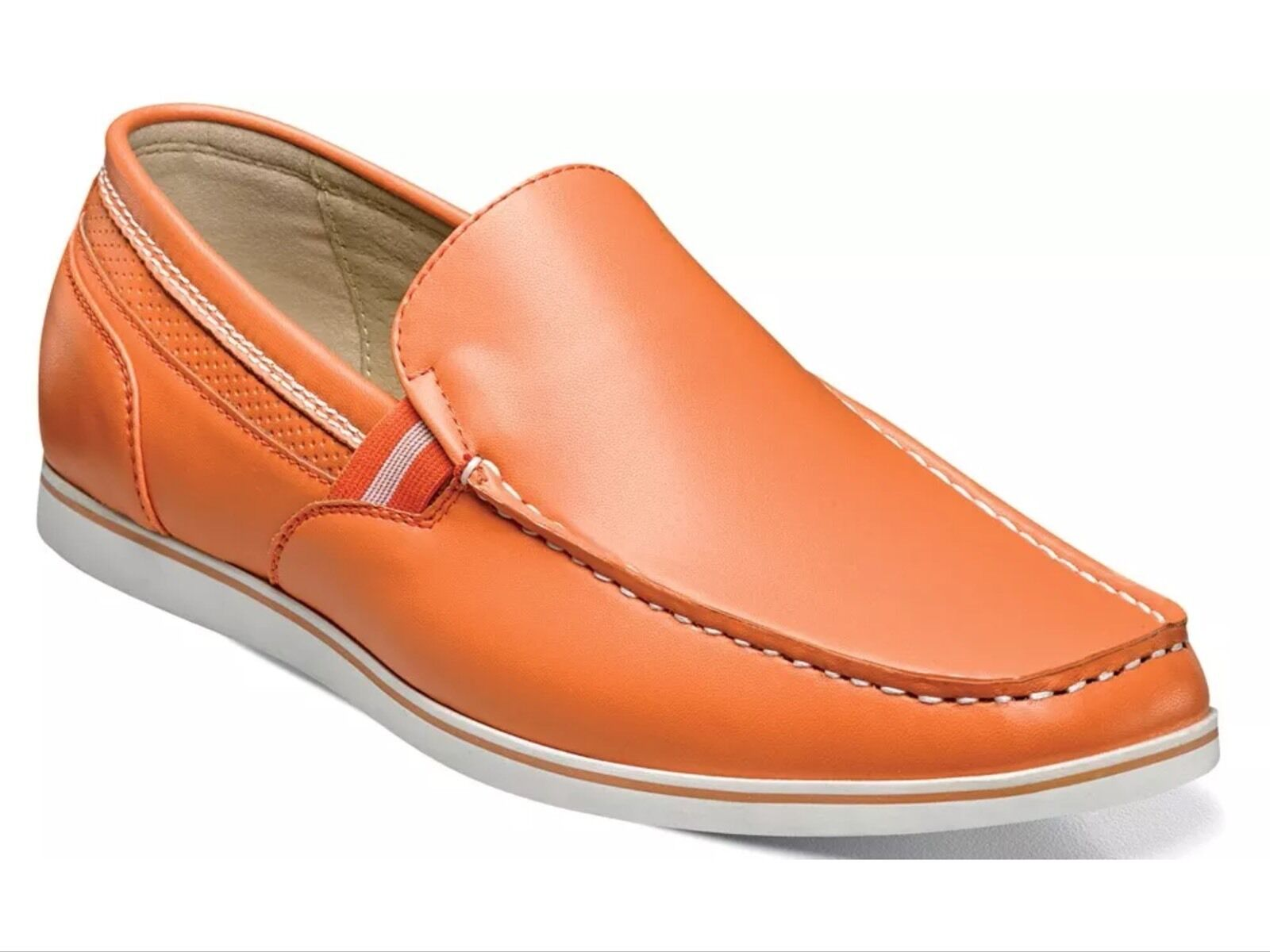 Stacy Adams Men's Coy Moc Toe Classic Slip On Loafer shoes orange 25041 New