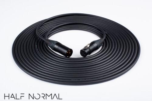 35/' Mogami 2534 Quad Balanced Cable Neutrik Gold XLR Male to XLR Female Black
