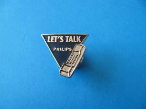 Vintage-Philips-PHONE-Pin-BADGE