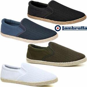 Hommes-Toile-Chaussures-d-039-ete-a-Enfiler-Decontracte-Bateau-Pont-Yacht-Pumps-Plimsolls-Trainers