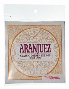 Aranjuez Saitensatz Classic Golden Set 600 Heavy Gauge 12 Packs