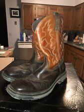 Ferrini Western Boots Mens Caiman Print Cowboy Chocolate 40793-09