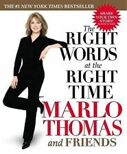 The Right Words at the Right Time by Marlo Thomas (2004, Paperback)