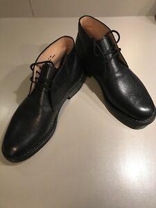 Details zu Church's Herrenschuhe Ryder 3, Schnürschuhe, schwarzer Leder, Größe 7 UK