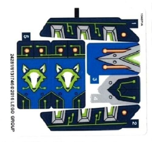 LEGO NEXO KNIGHTS Aaron Fox's Aero-Striker V2 STICKER SHEET for Set 70320 NEW