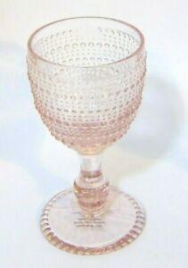 1x-Vintage-Style-Easter-Pink-Blush-Hobnail-Drinking-Cocktail-Stem-Glass-Goblet
