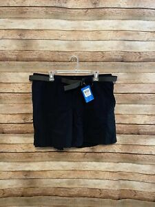 Columbia-Womens-Sandy-River-Cargo-Shorts-Nylon-Black-Hiking-XL-New-NWT-Belted