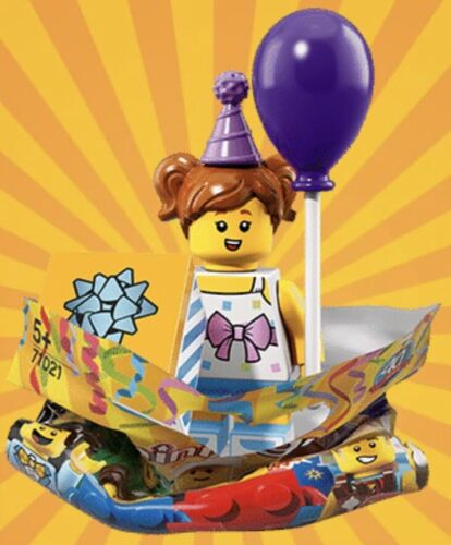 LEGO Minifigures Series 18 Party 71021 # 6 BIRTHDAY GIRL Brand New Lot 40 Years