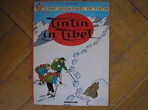 TINTIN-IN-TIBET-DE-AGOSTINI-ITALIA-1990-SERIE-COMICS-WITH-ME-IN-ENGLISH