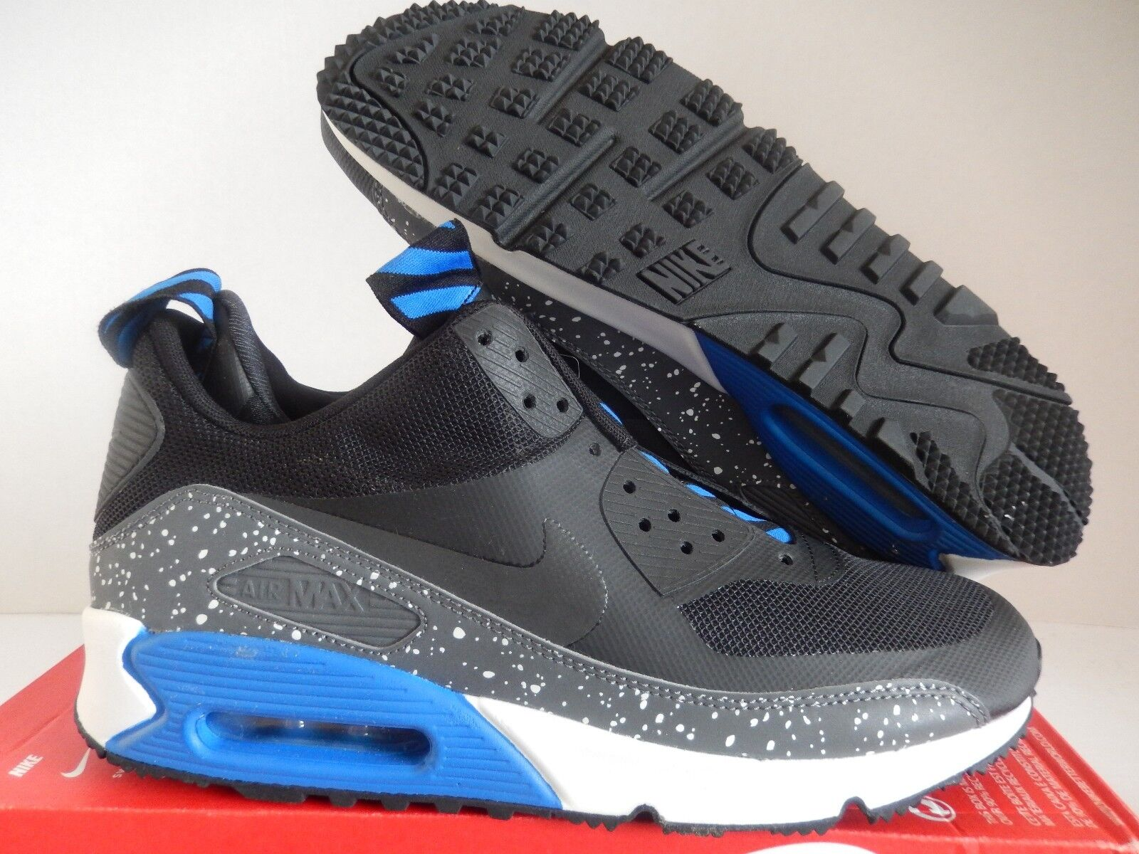 0996e6efa34e Nike Air Max 90 Sneakerboot NS Mens 616314-003 Black Blue BOOTS ...