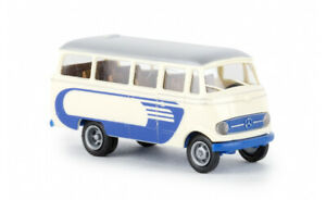 36146-Brekina-Mercedes-O-319-hellbeige-blau-1-87