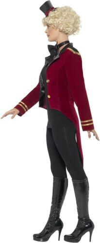 Ladies Ringmaster Tailcoat Fancy Dress Costume Showman Cabaret Outfit Smiffys