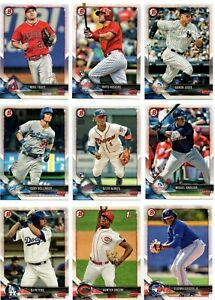 2018-Bowman-Baseball-Base-Set-amp-Chrome-Prospects-Inserts-Pick-Card-Build-lot-MLB