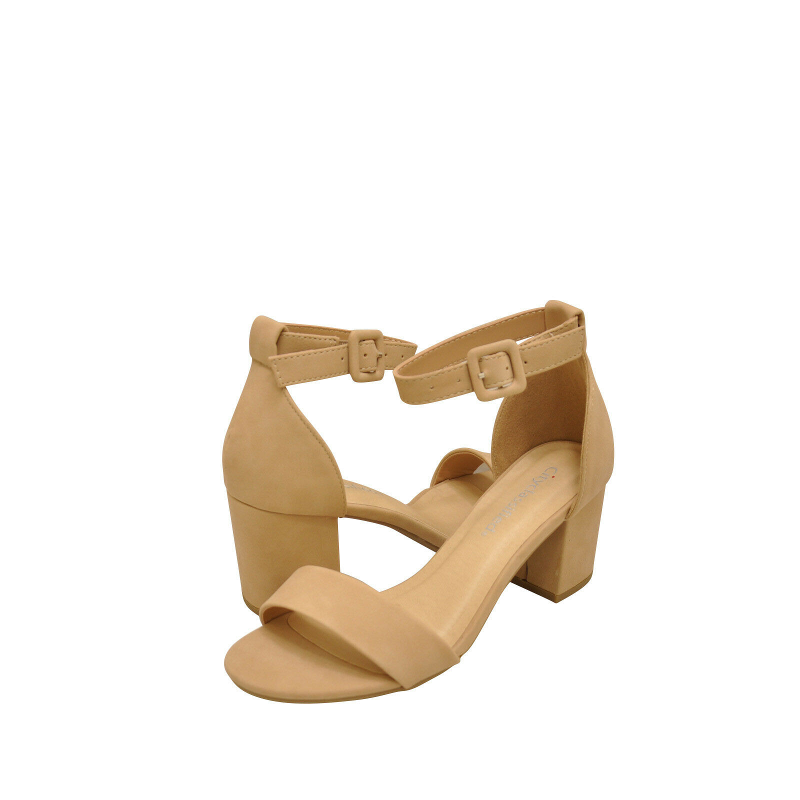 Women's shoes City Classified Cake S Open Toe Ankle Strap Heels Natural New