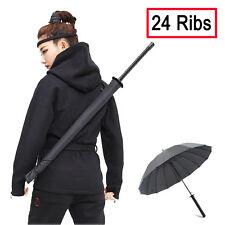 Large Windproof Ninja-like Japanese Samurai Sword Long-handle Rain Sun Umbrella