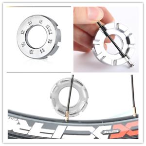 6Way Metal Spoke Nipple Key Bike Cycle Wheel Rim Wrench Spanner Tool UK..