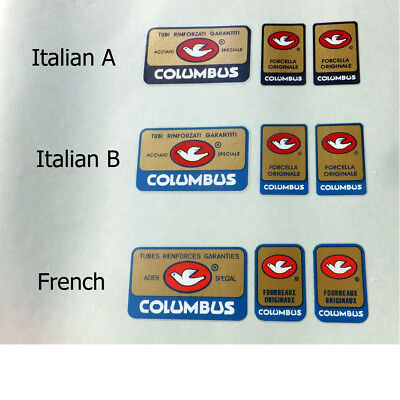 Columbus Fork decals FREE vintage Campagnolo decal!
