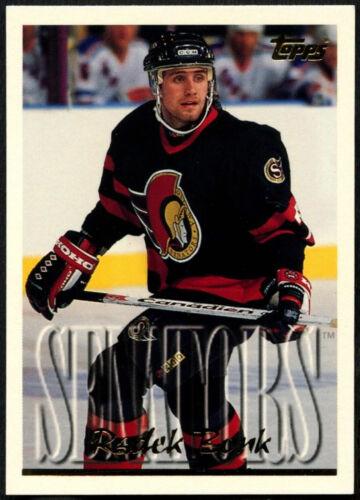 Radek Bonk #64 Ottawa Senators Topps 1995-6 Tarjeta de hockey sobre hielo C531