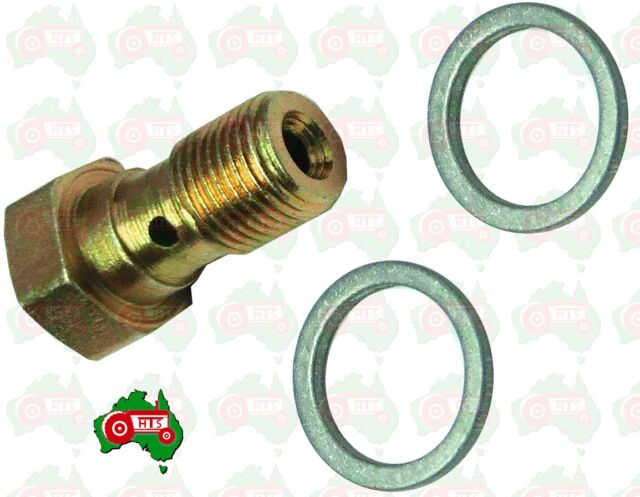 Tractor Fuel Leak Off Pipe Banjo Bolt Kit Massey Ferguson 333 334 340 342 350