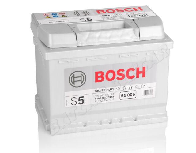 Starterbatterie BOSCH 63 Ah S5 005 12V 63Ah ersetzt ersetzt 60 62 64 65 70 74 Ah