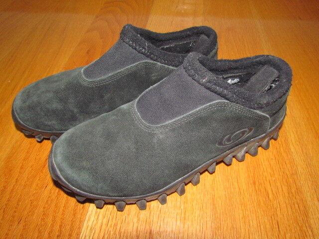 SALOMON Snow Clogs  Suede Leather Men's Size USA 8.5    3