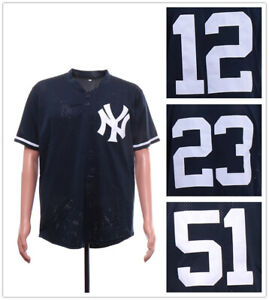 the latest fcec3 be806 Details about Men's New York Yankees Batting Practice Mesh Navy Pullover  Jersey Stitched