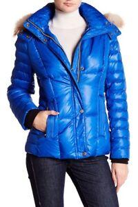 Marc femmes Veste en cobalt pour vif duvet bleu à Andrew bleu capuche bIyv7Y6fgm