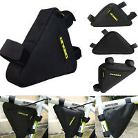 Front Tube Triangle Bag Pouch Cycling Bike Bicycle Release Frame Pannier Black