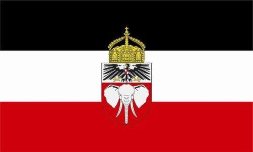Aufkleber Deutsch Kamerun mit Krone Flagge Fahne 8 x 5 cm Autoaufkleber Sticker