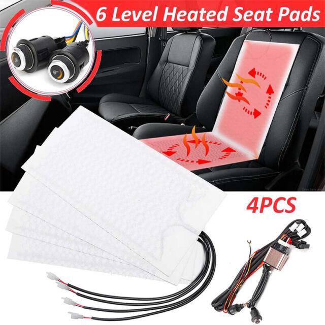 2Set Auto Carbon Sitzheizung Universal Heizmatten Kfz Pkw 3 Stufen Schaltung