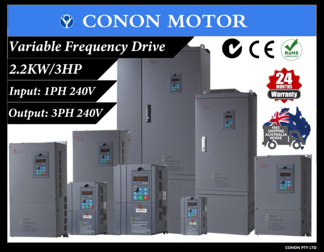 2.2kw/3HP 10A 240V AC  single phase variable frequency drive inverter VSD VFD
