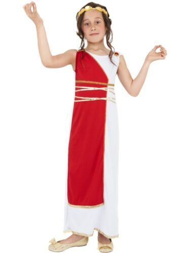 Child/'s Girls Grecian Roman School Greek Book Day Fancy Dress Costume Outfit