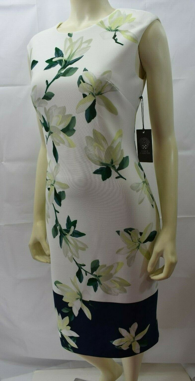 VINCE CAMUTO SHEATH FLORAL DRESS SZ 6 NEW WITH TAG