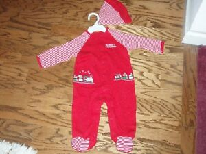 2a08b3826 Image is loading Little-Me-My-First-Christmas-Pajamas-Sleeper-Footed-