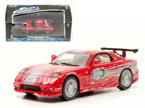 DOM'S 1993 MAZDA RX-7 RED THE FAST AND THE FURIOUS 2001 1/43 GREENLIGHT 86204